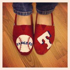 birthday presents, texas rangers, painted toms, texa ranger, basebal season, baseball season, angels, shoe, thing