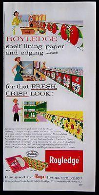 Vintage 1953 Royledge Shelf Lining Paper and Edging Magazine Ad | eBay