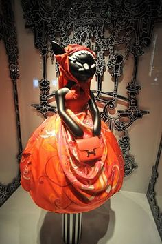 """""""Little Red Riding Hood"""" is the theme for the Hermes store in Ginza , Japan."""