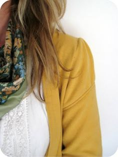 Crappy Men's Sweatshirt to fabulous cardigan with a couple simple alterations. LOVE this!