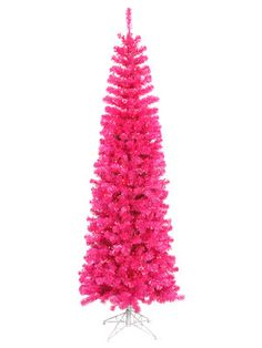 Pink Pencil Tree with Lights (4.5') by Vickerman Company on Gilt Home