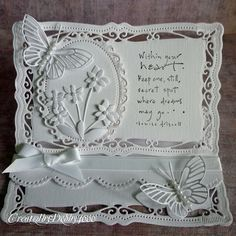 butterfli, card idea, spellbind, wedding cards, white card, easel cards, shaped cards, shape cardsscrapbook, paper crafts