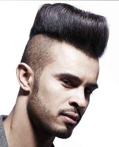 medium black straight sculptured shaved-sides Mens haircut modern men hairstyles for men