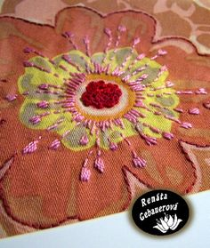 embroidery on print fabric