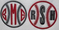 Baseball embroidery frame designs monogramming