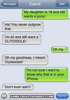 funny texts, clitdiddl, funni text, poni, laugh, text funni, awkward, autocorrect, hilari funni