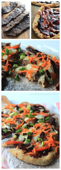 Grilled Asian Short Rib Pizza with Blackberry Hoisin Sauce, definitely one incredible pizza recipe! | www.joyfulhealthyeats.com
