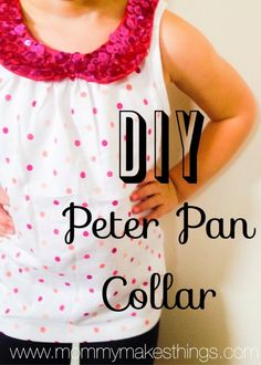 kids diy Peter Pan collar REfashion from Mommy Make Things - BrassyApple.com