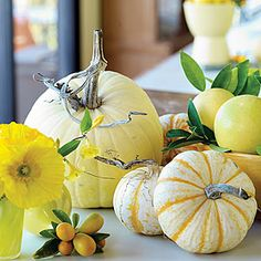 13 easy pumpkin arrangements | Yellows and golds | Sunset.com