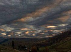 Undulating clouds.