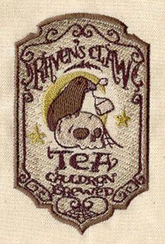 Embroidered Flour Sack Towel Set of Two - Ravens Claw Tea