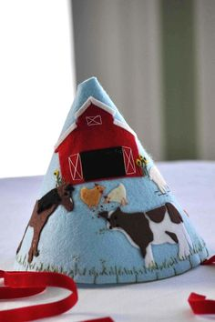 $35 - perfect birthday hat for the animal or farm themed party - Love it!