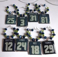 Lol Seahawks wine tags! Might have to start making these for those Dodgers given the fans I know and that they are winning! Party time soon!