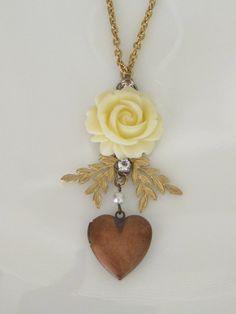 Flower Locket Necklace