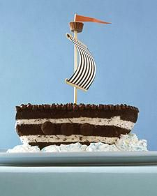 Chocolate Chip Ship Cake Idea