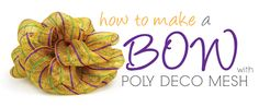 Party Ideas by Mardi Gras Outlet: Poly Deco Mesh Bow: Video Tutorial