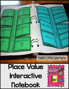 What's Included in this 38-page product: *Explanation of Interactive Math Notebooks *Place Value Mini-Posters *Roll It *Place Value Bubble Map *Ones, Tens, and Hundreds Flip Flaps *Base Ten Block Flip Flaps *Expanded Form Flip Flaps *10 More, 10 Less, 1 More, 1 Less *Greater Than/Less Than 500 *What's the Digit Value *Photos of these interactive math notebook pages