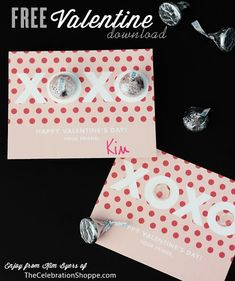 Hugs and Kisses Free Valentine Printable Download | Kim Byers
