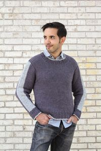 Cityscape Sweater - from the Fall 2014 Issue of Love of Crochet magazine  Stitch up a comfy and classic men's sweater that looks knitted with your Tunisian crochet hook! The stripes on the sleeves and edges complete the look and provide some added interest without overpowering the effortlessly handsome design.