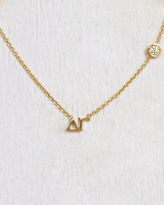 Delta Gamma Necklace  www.etsy.com/mylojewelry