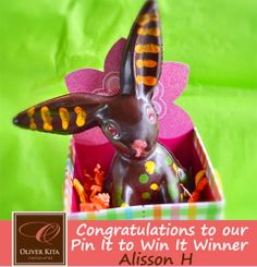Congratulations to our contest winner, Allison H! Send us an email at OliverKitaChocolates@gmail.com for more information on receiving your $50 gift card!