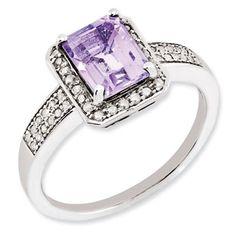 Emerald Cut Pink Quartz Diamond
