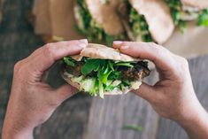 Lamb Burgers With Greek Yogurt, Cucumber, Feta and Arugula by hatchery.co #Burgers #Lamb #Greek