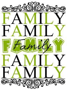 FAMILY - printable