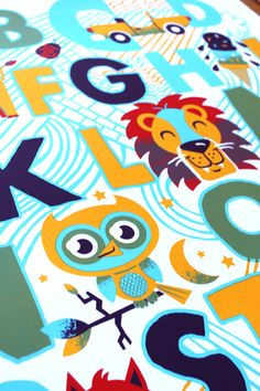 Detail from new alphabet Print by yours truly, Tad Carpenter.