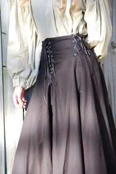 Idea - Full-Length Circle Skirt with Yoke and Lacing
