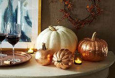 Copper Leaf Pumpkins — One Kings Lane