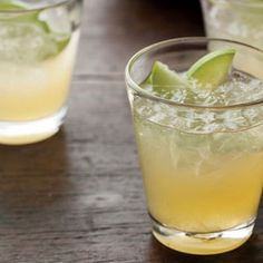 Apple-Saffron Gimlets | http://www.rachaelraymag.com/Recipes/rachael-ray-magazine-recipe-search/drink-cocktail-recipes/apple-saffron-gimlets