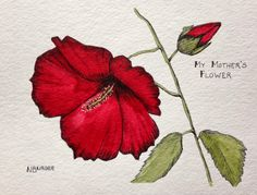 You Could Make That: MY AUGUST GARDEN and a ROSE MALLOW COMMISSION