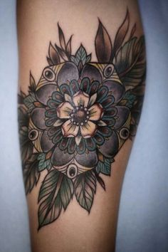 Awesome flower tattoo