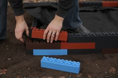 Garden Blocks For Lego Enthusiasts -- Would be great for a boy or girls garden bed!!