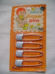 Vintage diaper pins