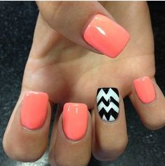 Special pink nails - easy nail art