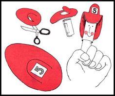 Fireman Finger Puppets:)