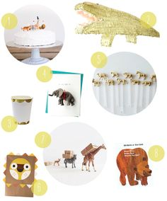 Animal Party from Oh Happy Day! (including Wee Alphas DIY masks)