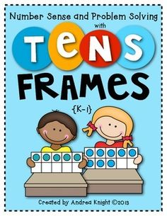 New:  Number Sense and Problem Solving Using Tens Frames  ... 40 blackline student pages for strengthening early math skills using tens frames as a tool for thinking.  Many pages can be used in math journals and/or centers, as well.  (K-1) $