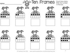 FREE SUMMER Ten Frames! Summer for Kinder Kids FREEBIE contains a Read, Write and Roll sight words Activity, Sorting op, oss, og words Summer Activity, Summer Ten Frames Activity, Using Tally Marks Activity and 8 fun SUMMER Word Wall cards.