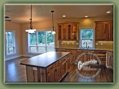 Rustic Kitchen - Hickory Cabinets  AppleWood Flooring