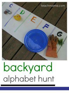 backyard #alphabet hunt | fun, easy outdoor play | teachmama.com