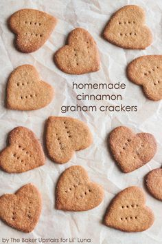 Delicious Homemade Cinnamon Graham Crackers - now I can make the kiddos favorite snack at home! { lilluna.com }