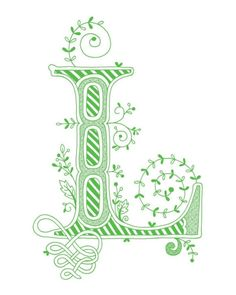 "Calligraphy ""L"""