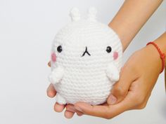 "bubblytea-shop: "" Amigurumi Molang Fat Rabbit Plush from the bubblyteashop: X "" Oh my goodness! So SWEET! Had to share this crochet reblog today! :)"