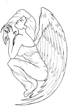 Guardian Angel Tattoos For Women | angel tattoo designs1 Guardian Angel Design tattoo design, art, flash ...