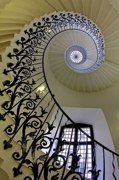 The tulip staircase inside Queen's House in Greenwich, London