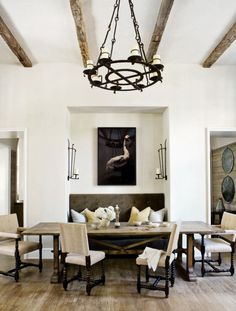 rough luxe: Beth Webb Interiors…The Power of Black, Iron Chandelier  Sconces