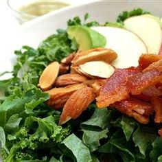 """Kale, Apple, Avocado, and Bacon Salad 